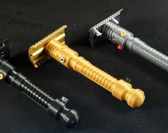 Lightsaber Inspired DE Razor Handle (handle only, no razor head)