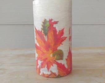 Fall, Autumn, Leaves, Home Decor, 3x6 Pillar Candle