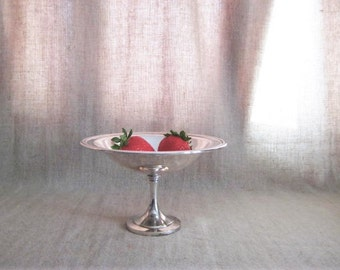 SILVER PLATE Compote / Candy Dish / Shabby Silver Plate Dish for Vanity, Home or Wedding Decor / ONEIDA Silverplate Dish