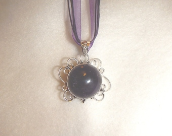 PAY IT FORWARD - Purple Amethyst pendant necklace set in silver (P449)