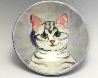 Kitty Bowl with Striped Kitten