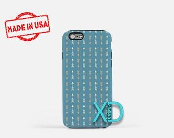 Arrow Phone Case, Arrow iPhone Case, Tribal iPhone 7 Case, Blue, Tribal iPhone 8 Case, Arrow Tough Case, Clear Case, Boho, Abstract
