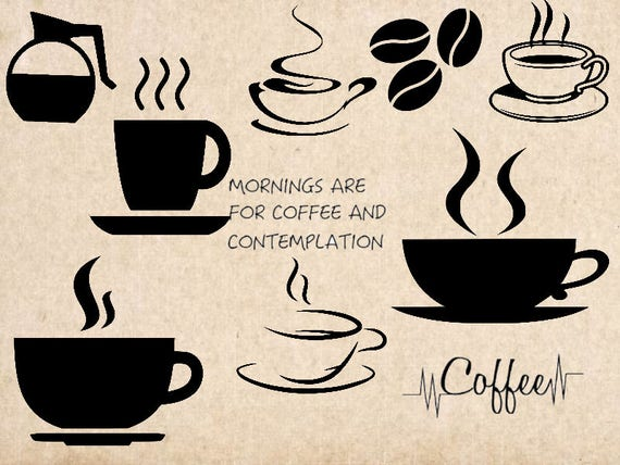 Download Coffee SVG cutting file coffee cup svg dxf cameo