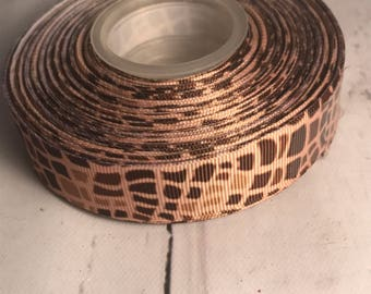 Animal print ribbon - giraffe print ribbon - zebra print ribbon - cheetah print ribbon - bow making supplies - grosgrain ribbon