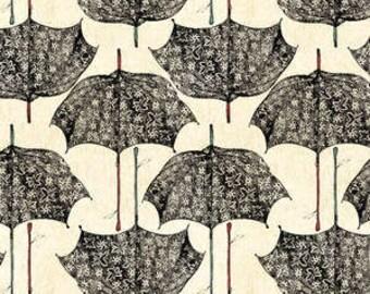 Ooh La La Creme Umbrellas by Wilmington Prints  Vintage French Postcards on Cream 14576-294
