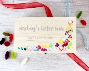 Personalised Toffee Box Fathers Day Gift