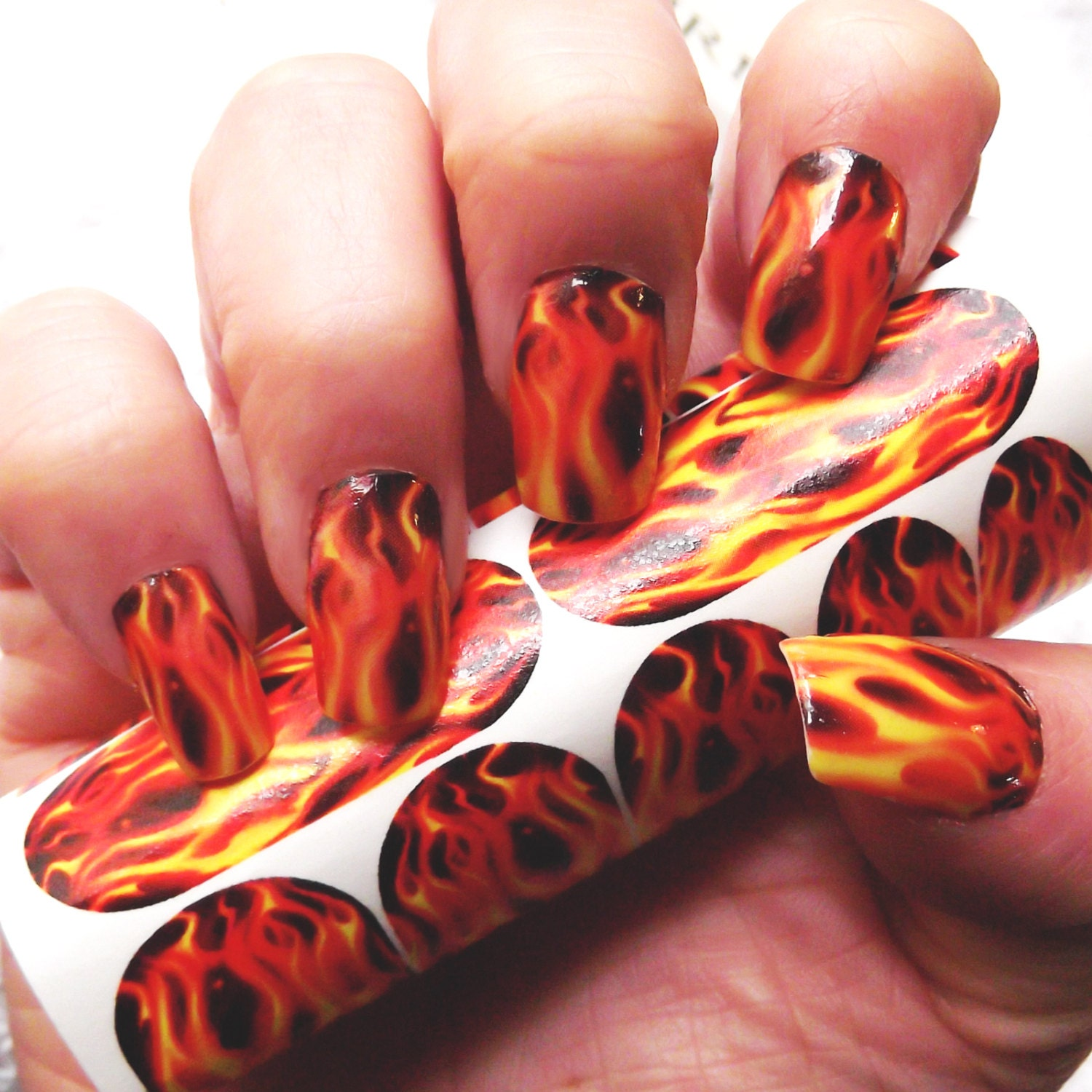 REAL FLAME Nail Art FMR For Long Nails Hunger Games /