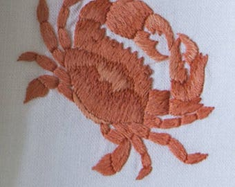 Machine Embroidery Design Red Crab