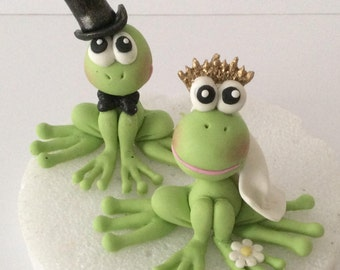 frog wedding cake toppers frog cake topper etsy 4380