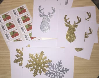 Snowflake Holiday Cards - Set of 10