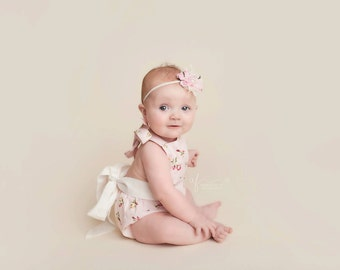 floral baby romper- baby romper- baby girl Romper -Girls Sunsuit -Baby Bubble Romper - Ruffle Romper- vintage outfit- baby outfit- posh