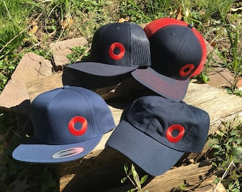 Fishman donut Phish hat. Simple, old school, classic, minimalist, embroidered. Trucker, dad, flat bill