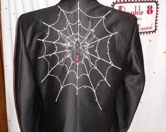 Men's Black custom spider suit - Size 44 L