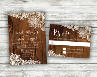 Barn wedding invite Etsy
