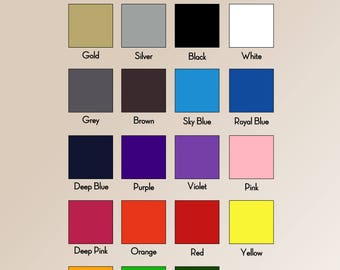 High quality T-shirt PU heat transfer vinyl 50cm x 5m(you can mix the colours)