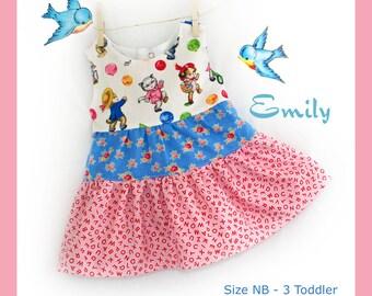 Instant Download PDF Sewing Pattern Infant Baby Toddler Girl Dress  Size NB 3 6 9 12 18 24 Months 3 Toddler