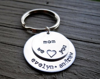 Mother's Day Gift - Mom Keychain - Kids Names -  Personalized Gift from Kids - Gift for Mother