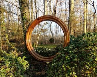 Convex Mirror, Round Mirror, Solid Wood Convex Mirror, Porthole Mirror, Fisheye Mirror