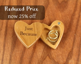 DISCONTINUED - REDUCED PRICE Heart Shaped Box, Just Because, Engagement, Slender 2-1/4