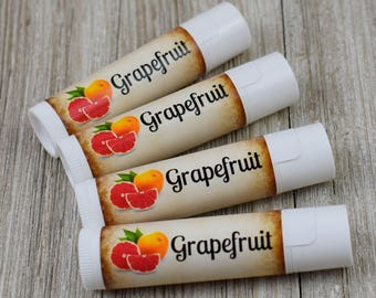 Grapefruit Flavored Lip Balm - Handmade All Natural Lip Balm