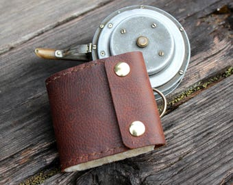Oil Tanned Leather Fly Fishing Wallet