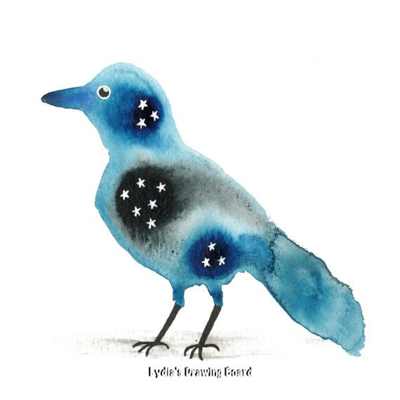 Bird Art, Bird Artwork, Bird Art Print, Nature Art, Nature Artwork, Nature Art Print, Nature, Bird, Starling, Spirit Animal, Home Wall Decor