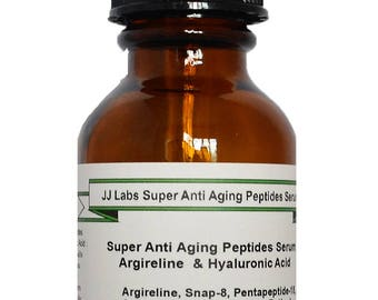 Super Anti Aging Complex Peptides Serum with Argireline and Hyaluronic Acid
