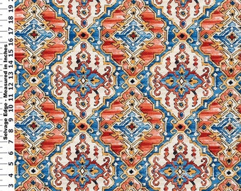 SALE - Kilim Gem Cotton Home Dec Fabric - One Yard - 44 inch Home Decor Fabric