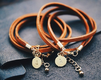 Personalized Gift For Her Valentines Day Gift Leather Bracelet For Women Personalized Bracele Girlfriend Gift