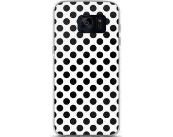 Black Polka Dots Samsung Case