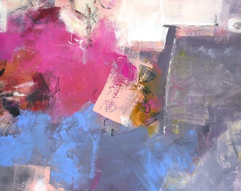 """ABSTRACT PAINTING """"Starting Again"""" Modern ORIGINAL Art by Elizabeth Chapman"""