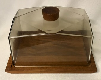Vintage Covered Serving Block / Tray