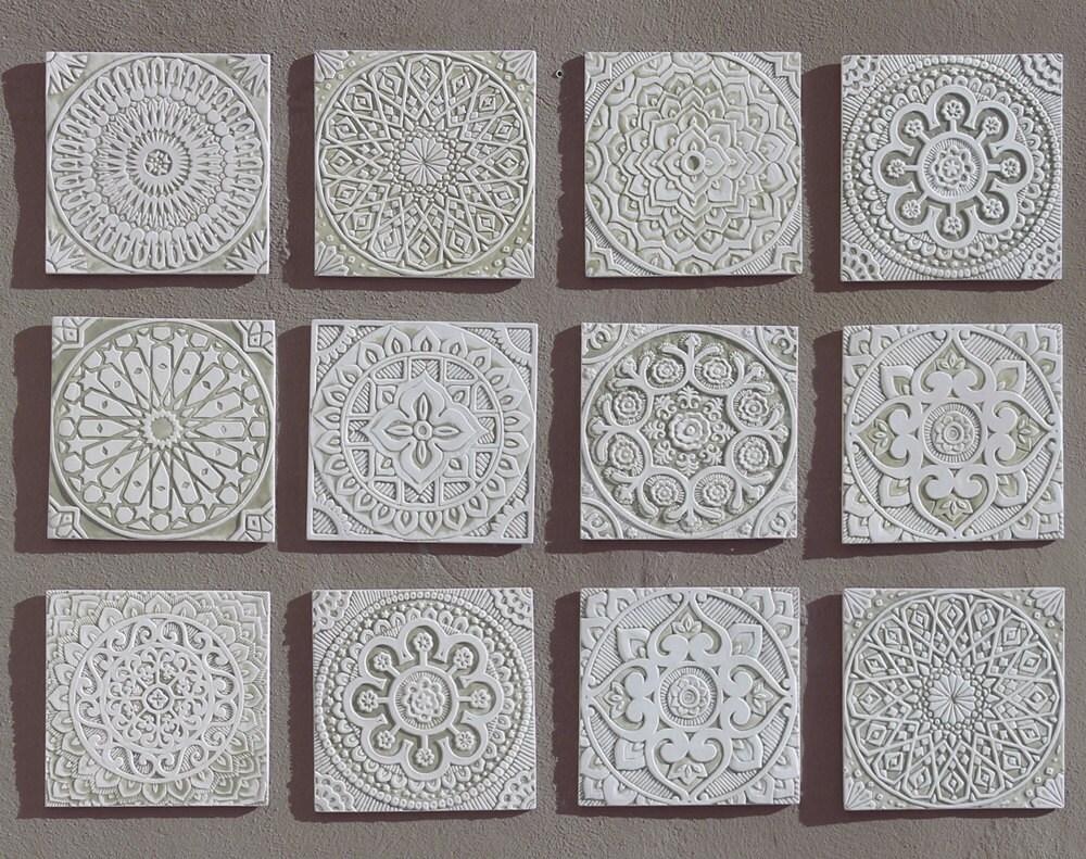 12 tiles outdoor wall art garden decor wall tiles with description set of 12 wall art tiles made from ceramic dailygadgetfo Gallery