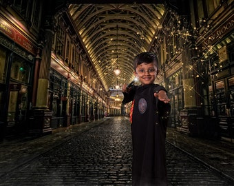 Harry Potter Backdrop, Diagon Alley, Digital Background, Digital Backdrop, Leadenhall Market, London Backdrop, Harry Potter Background