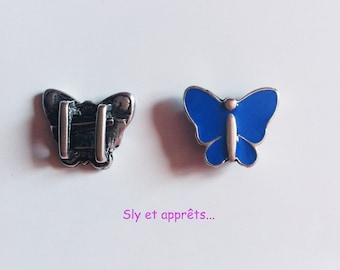 2 beads Butterfly link 3mm loops