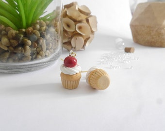 Cherry cupcake earrings