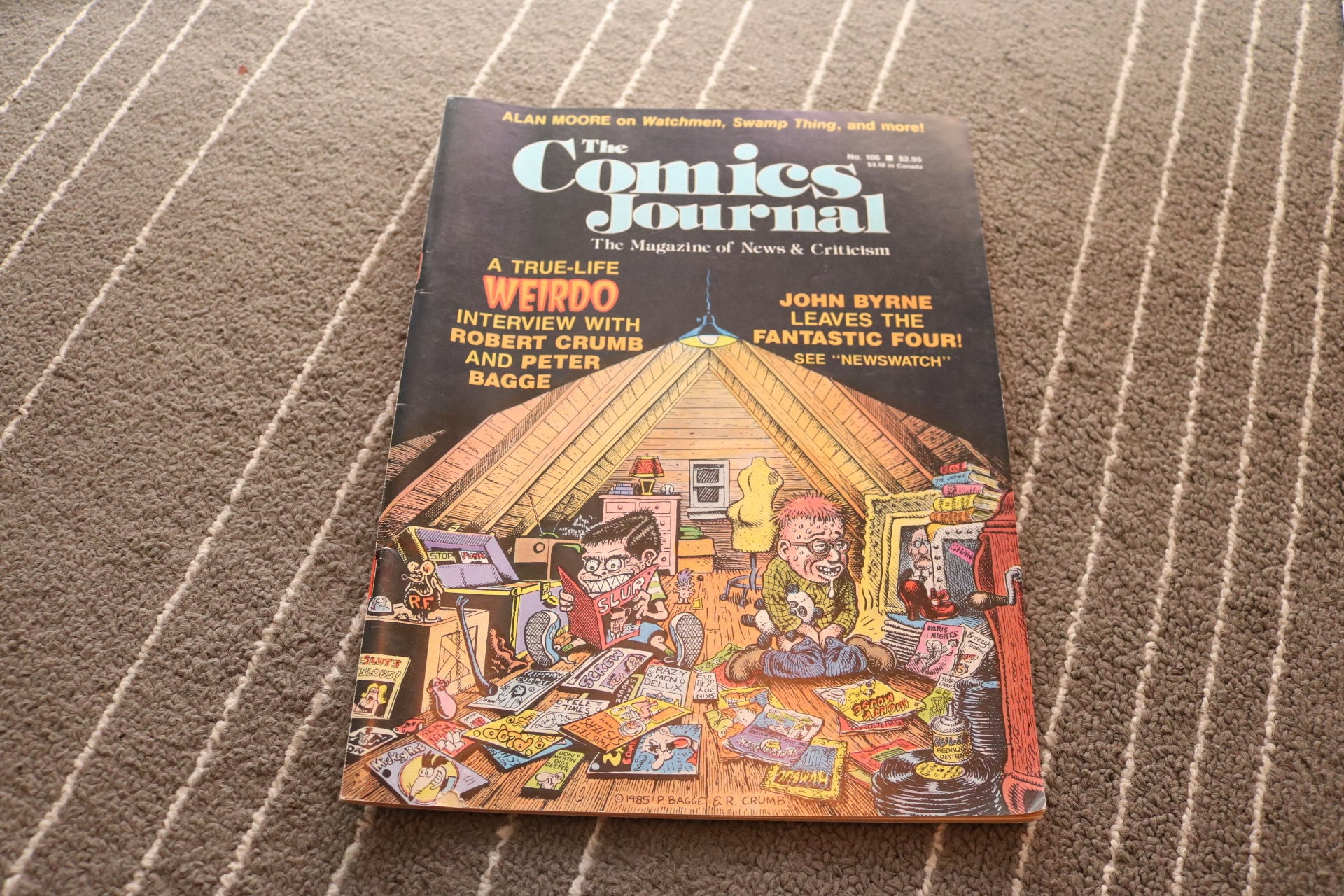 Die Comics Journal 106 1986 Spinner Robert Crumb Peter Bagge