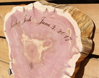 Personalized Rustic Guest Book, Guest Book Alternative, Large Tree Slice Guest Book, extra large wood slice, extra large wedding guest book