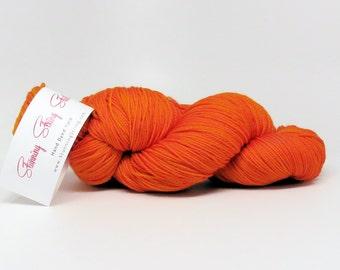 Luxury Fingering Weight - Merino, Cashmere & Nylon - Harvest Orange 100 g - 425 yds