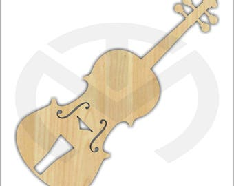 Unfinished Wood Laser Cut Violin or Fiddle, Ready to Paint, Music Room Decor, Various Sizes