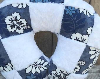 Rosebud minky boppy cover-Hawaiian boppy cover-cotton boppy cover-Hawaiian baby gift-Patchwork boppy cover-Hawaiian nursing cover