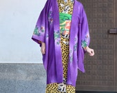 Purple haori with wine le...