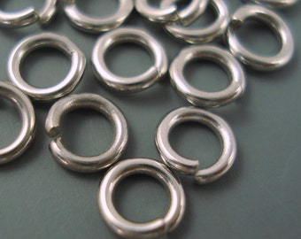Stainless Steel Jump Ring, 7MM 18G Stainless Steel Jump Ring, 20 Pieces 7MM Closed But Not Soldered Heavy Gauge