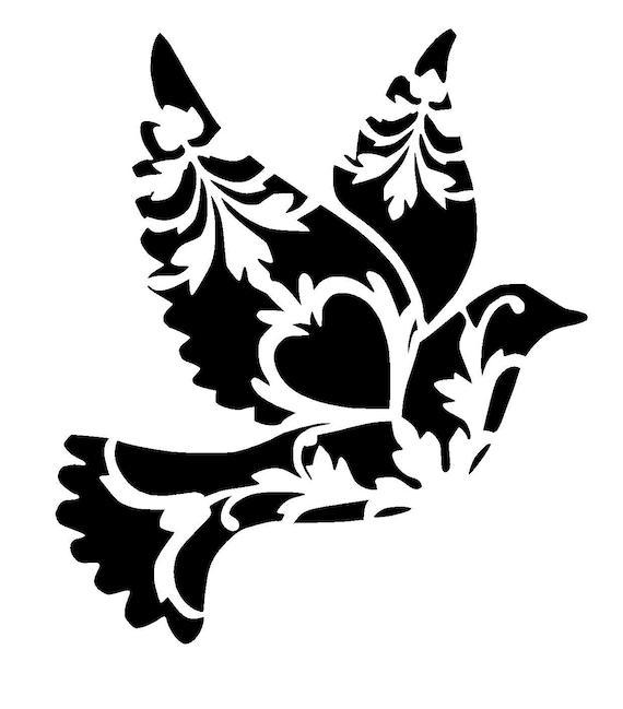 12 12 Quot Vintage Dove Stencil From Lovestencil On Etsy Studio