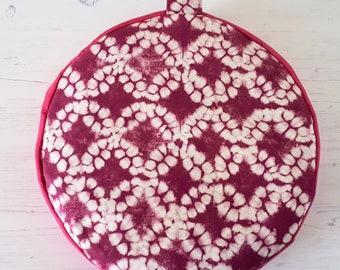 Get comfy... Pink Batik Organic Buckwheat Meditation Cushions