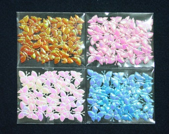 30 pcs • 15x20 mm • White/Pink/Red/Blue Die Cut & Emboss Felt Butterfly Decoration