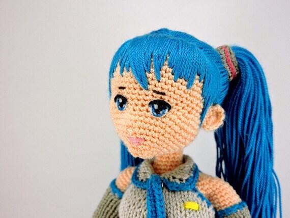 Amigurumi Doll Anime : Hatsune miku amigurumi doll vocaloid anime amigurumi miku