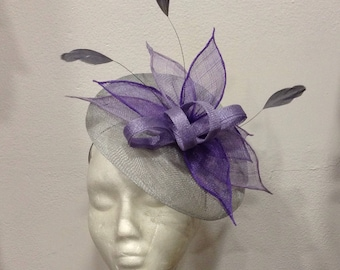 """Bibi"" wedding grey basic blue, gradient purple lilac and purple pattern ""Leaves"""