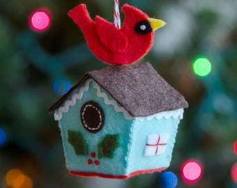 Birdhouse Ornament PDF PATTERN