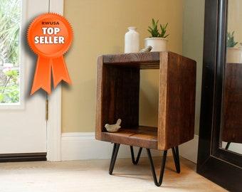 Reclaimed wood nightstand, rustic nightstand, table, bedside table, nightstand, end table, rustic, wood, bedroom furniture, side table